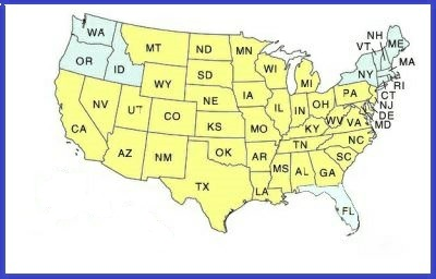 Shipping Policy For CaregiverAidcom - Us shipping zones map
